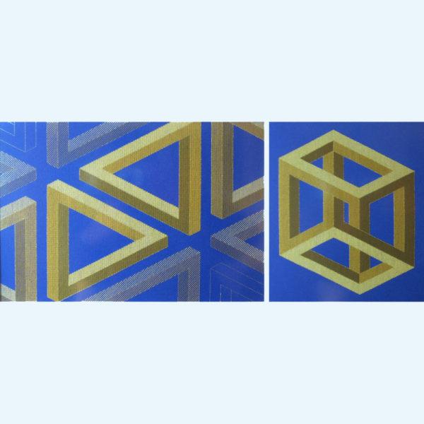 10C Borduurpatroon Kruissteken Embroidery pattern Cross-stitches Pythagoras A en B