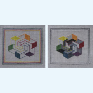 201C Borduurpatroon Kruissteken Embroidery pattern Cross-stitches Kleurenspel
