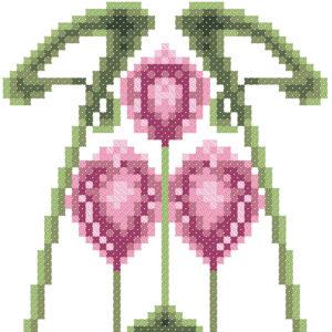 206B Borduurpatroon Kruissteken Embroidery pattern Cross-stitches Art Nouveau