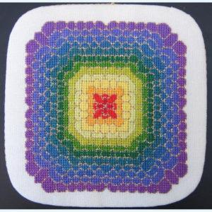 207C Borduurpatroon Kruissteken Embroidery pattern Cross-stitches Regenboog bloem