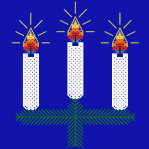 209B Borduurpatroon Kruissteken Embroidery pattern Cross-stitches Chirstmas