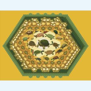 20C Borduurpatroon Kruissteken Embroidery pattern Cross-stitches Overbevolking centrum