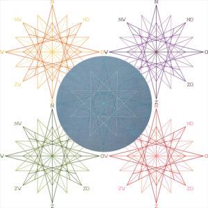 26A Borduurpatroon Kruissteken Embroidery pattern Cross-stitches Kompasroos
