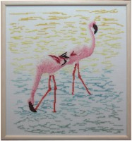 2A Borduurpatroon Kruissteken Embroidery pattern Cross-stitches Flamingo's
