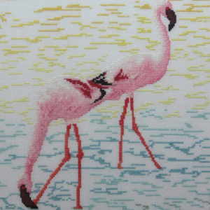 2B Borduurpatroon Kruissteken Embroidery pattern Cross-stitches Flamingo's