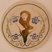 303A Borduurpatroon Kruissteken Embroidery pattern Cross-stitches Bloemen dame