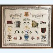 306C Borduurpatroon Kruissteken Embroidery pattern Cross-stitches Merklappen 1