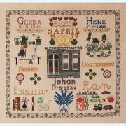 309C Borduurpatroon Kruissteken Embroidery pattern Cross-stitches Merklappen 4