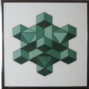 30A Borduurpatroon Kruissteken Embroidery pattern Cross-stitches Kubus D