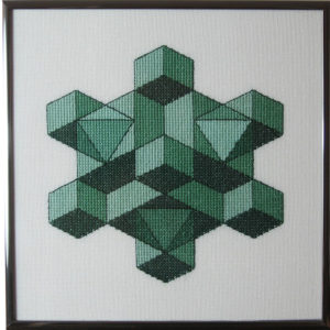 30B Borduurpatroon Kruissteken Embroidery pattern Cross-stitches Cube D
