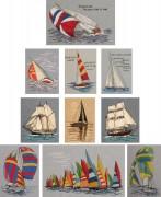 313A Borduurpatroon Kruissteken Embroidery pattern Cross-stitches Zeilboten