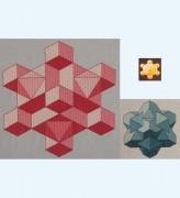 317C Borduurpatroon Kruissteken Embroidery pattern Cross-stitches Kubussen proeven