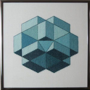 31B Borduurpatroon Kruissteken Embroidery pattern Cross-stitches Cube E