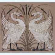 326C Borduurpatroon Kruissteken Embroidery pattern Cross-stitches Zwanen