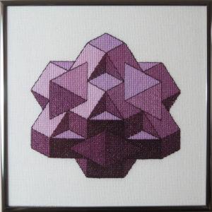 35A Borduurpatroon Kruissteken Embroidery pattern Cross-stitches Kubus I