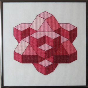 36A Borduurpatroon Kruissteken Embroidery pattern Cross-stitches Kubus J