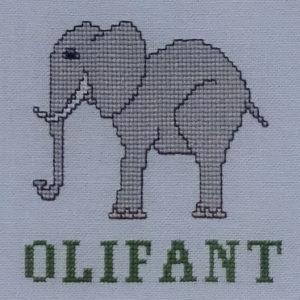 3B Borduurpatroon Kruissteken Embroidery pattern Cross-stitches Zoo