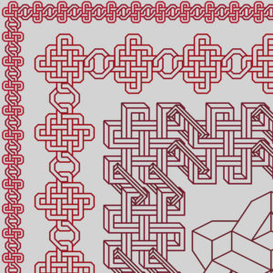 42B Borduurpatroon Kruissteken Embroidery pattern Cross-stitches Chain Table-cloth