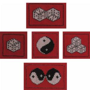 46A Borduurpatroon Kruissteken Embroidery pattern Cross-stitches Geluk A