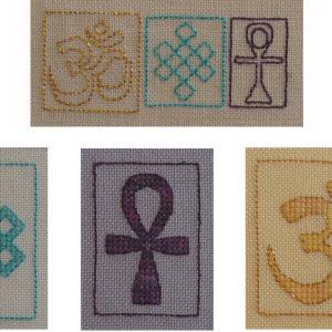 47B Borduurpatroon Kruissteken Embroidery pattern Cross-stitches Fortune B