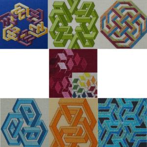 57B Borduurpatroon Kruissteken Embroidery pattern Cross-stitches Vincent A,B,C,D,E,F,G