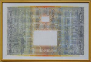 5A Borduurpatroon Kruissteken Embroidery pattern Cross-stitches Labyrint