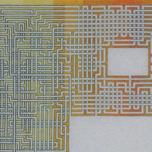 5B Borduurpatroon Kruissteken Embroidery pattern Cross-stitches Labyrinth