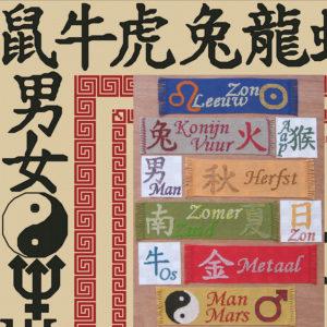 62B Borduurpatroon Kruissteken Embroidery pattern Cross-stitches Astrology East-West