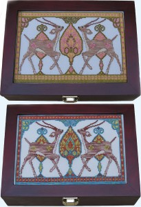 72A Borduurpatroon Kruissteken Embroidery pattern Cross-stitches Gazellen