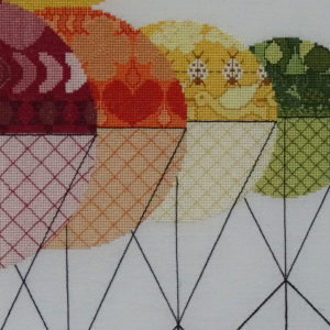 7B Borduurpatroon Kruissteken Embroidery pattern Cross-stitches Balance