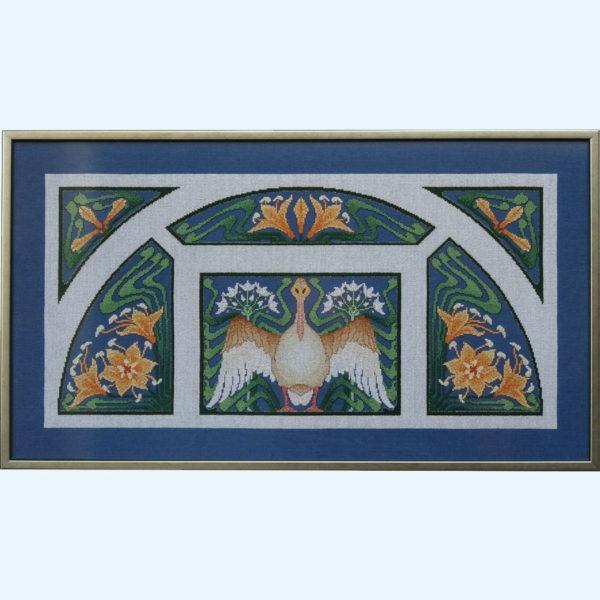 80C Borduurpatroon Kruissteken Embroidery pattern Cross-stitches Lente A