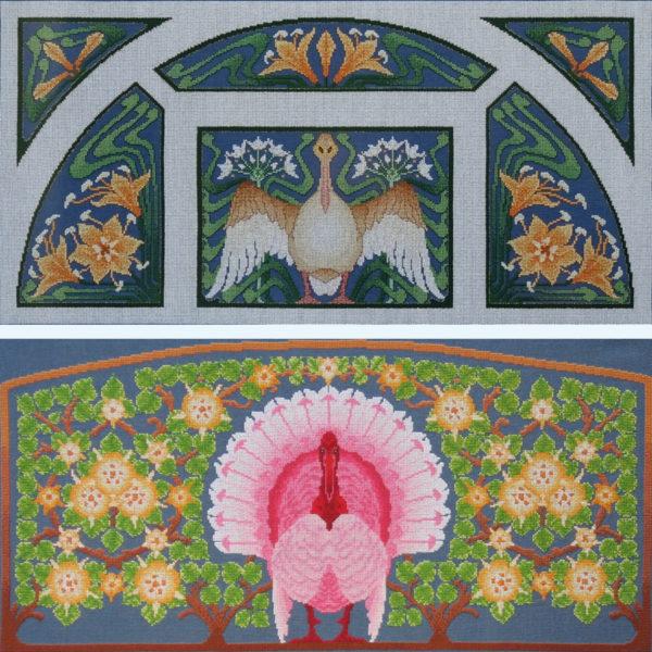 82A Borduurpatroon Kruissteken Embroidery pattern Cross-stitches Lente A en B