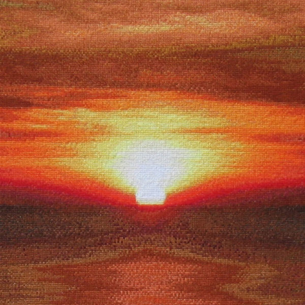 87B Borduurpatroon Kruissteken Embroidery pattern Cross-stitches Sunset