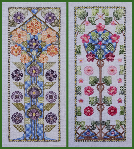 93A Borduurpatroon Kruissteken Embroidery pattern Cross-stitches Bloesem A en B