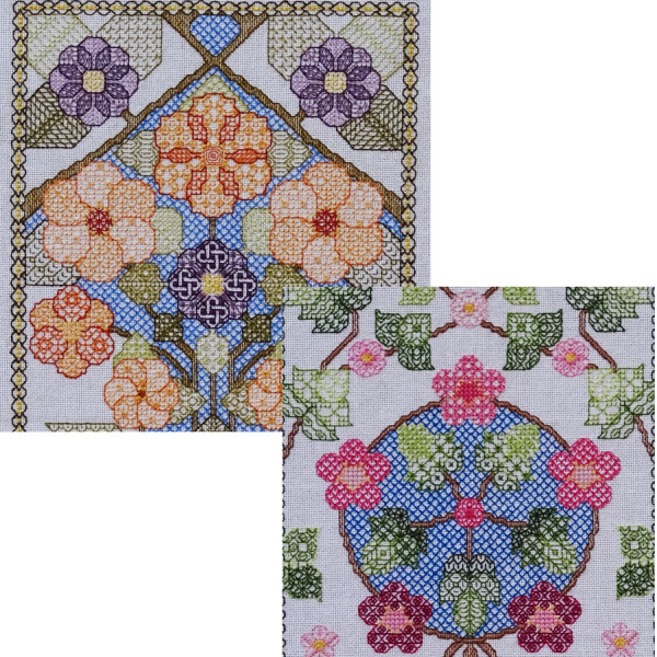 93B Borduurpatroon Kruissteken Embroidery pattern Cross-stitches Blossem A and B