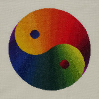 94A Borduurpatroon Kruissteken Embroidery pattern Cross-stitches Yin Yang variatie A