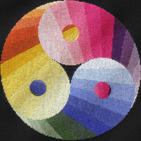 96B Borduurpatroon Kruissteken Embroidery pattern Cross-stitches Yin Yang variation C