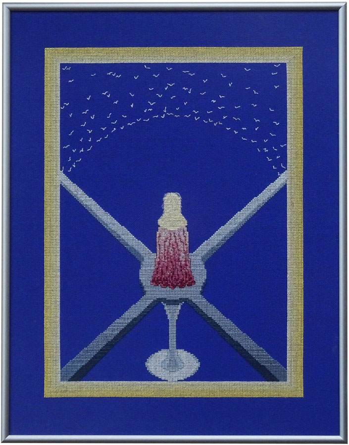 15A Borduurpatroon Kruissteken Embroidery pattern Cross-stitches Rust