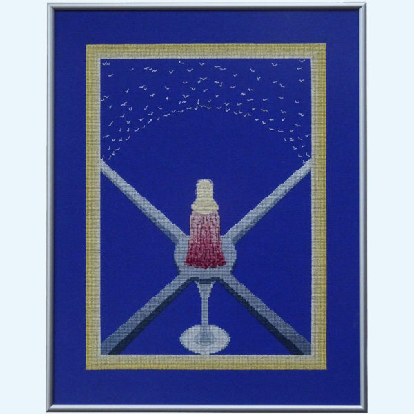Borduurpatroon Kruissteken Embroidery pattern Cross-stitches Rust