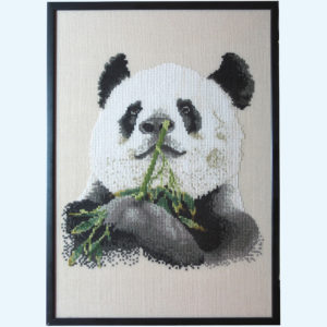 Borduurpatroon Kruissteken Embroidery pattern Cross-stitches Panda