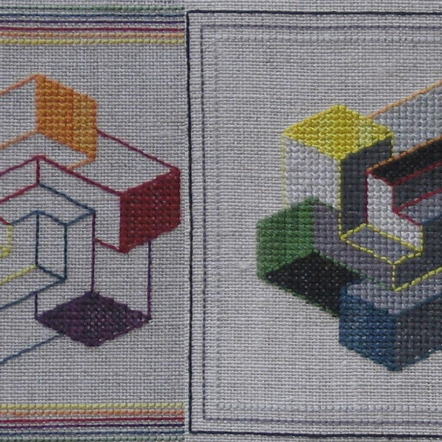 201B Borduurpatroon Kruissteken Embroidery pattern Cross-stitches Colorpicker