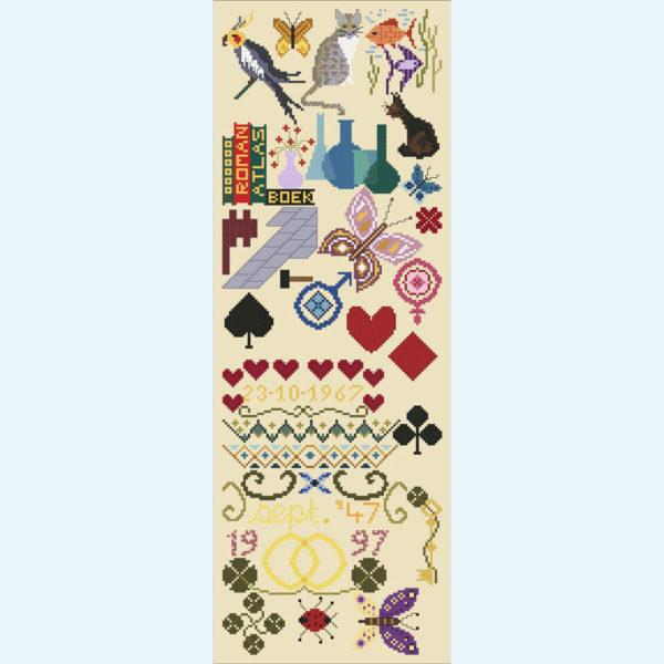 Borduurpatroon Kruissteken Embroidery pattern Cross-stitches Diverse