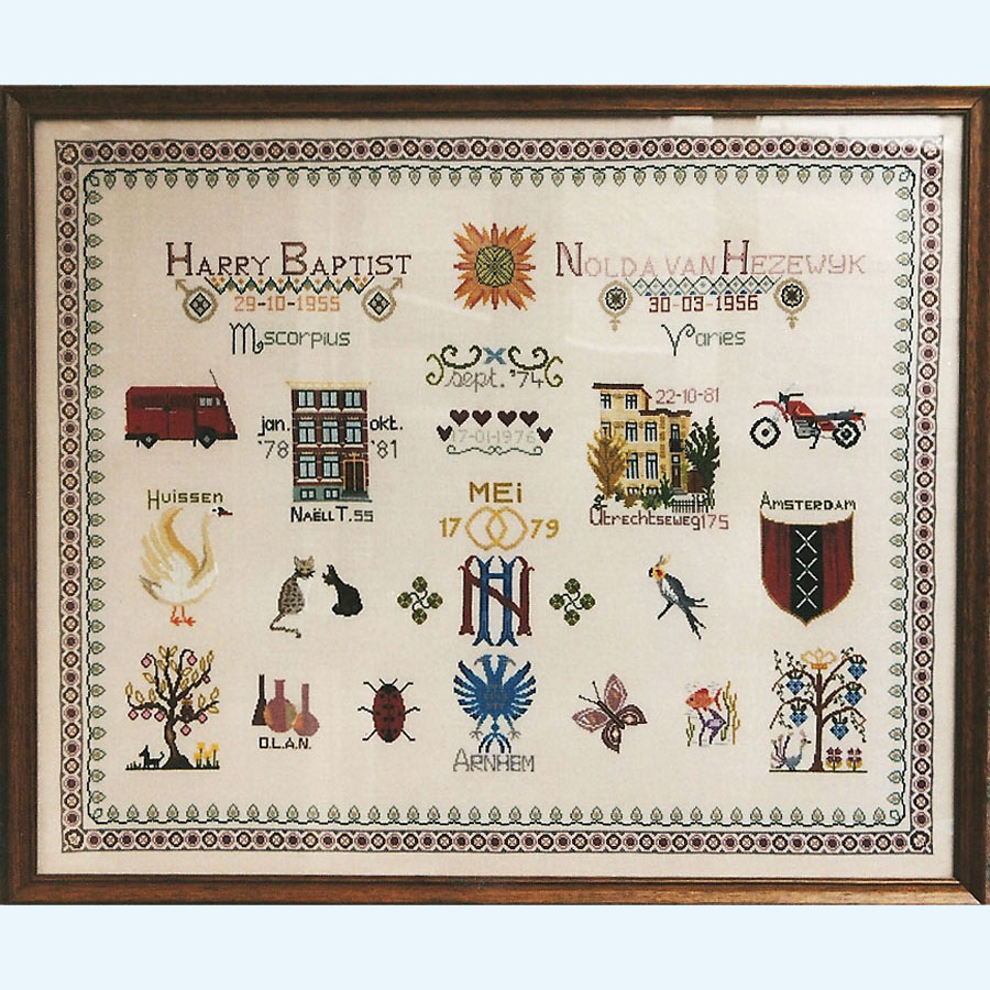 306C Borduurpatroon Kruissteken Embroidery pattern Cross-stitches Merklappen 1
