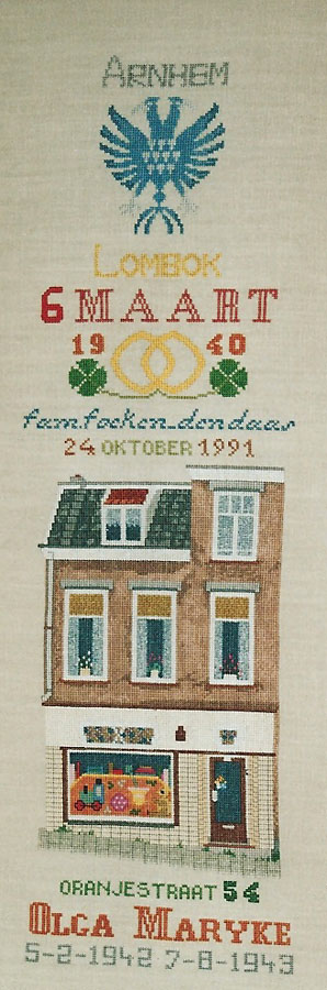 308A Borduurpatroon Kruissteken Embroidery pattern Cross-stitches Merklappen3