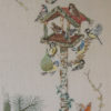 310A Borduurpatroon Kruissteken Embroidery pattern Cross-stitches vogelhuisje