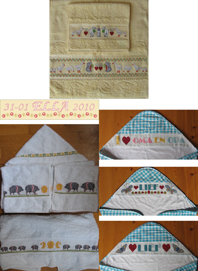 325A Borduurpatroon Kruissteken Embroidery pattern Cross-stitches Baby's