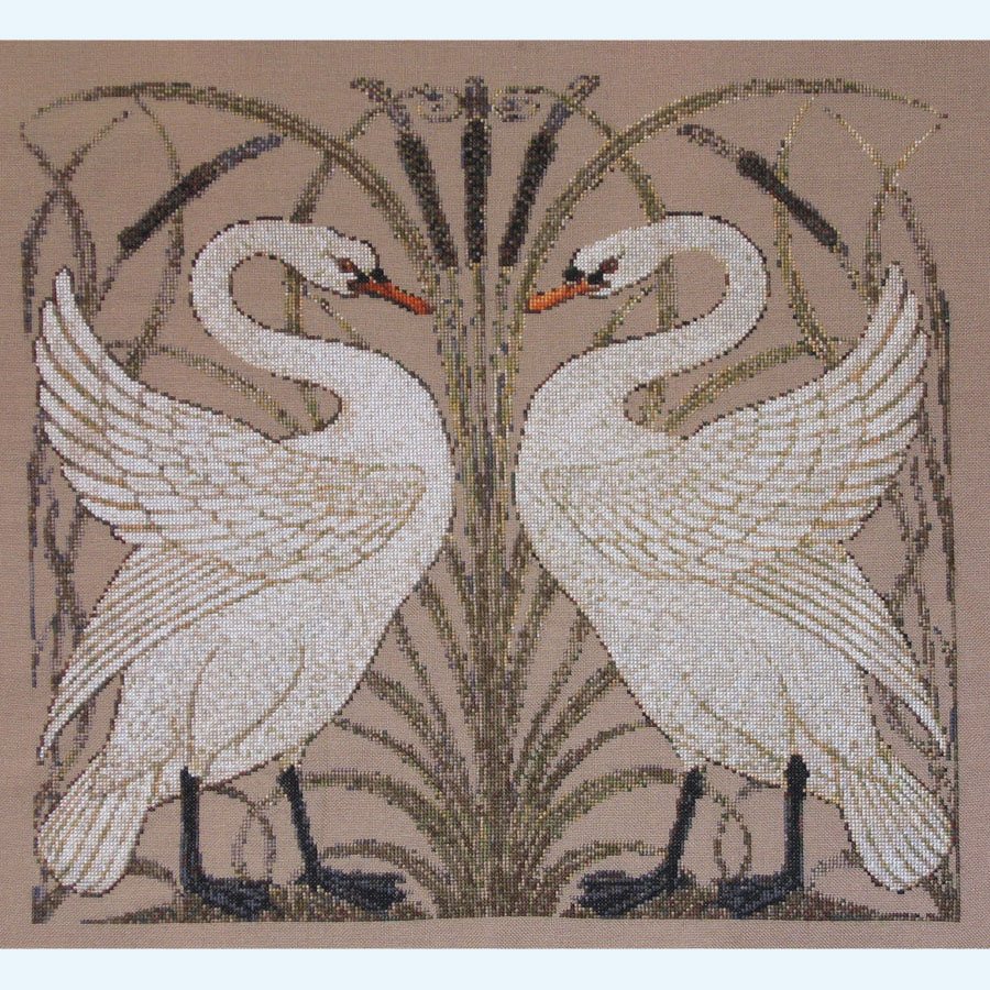 326C Borduurpatroon Kruissteken Embroidery pattern Cross-stitches Zwanen