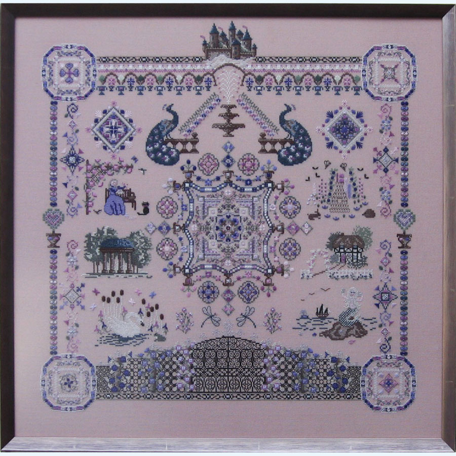 327C Borduurpatroon Kruissteken Embroidery pattern Cross-stitches Castles in the air