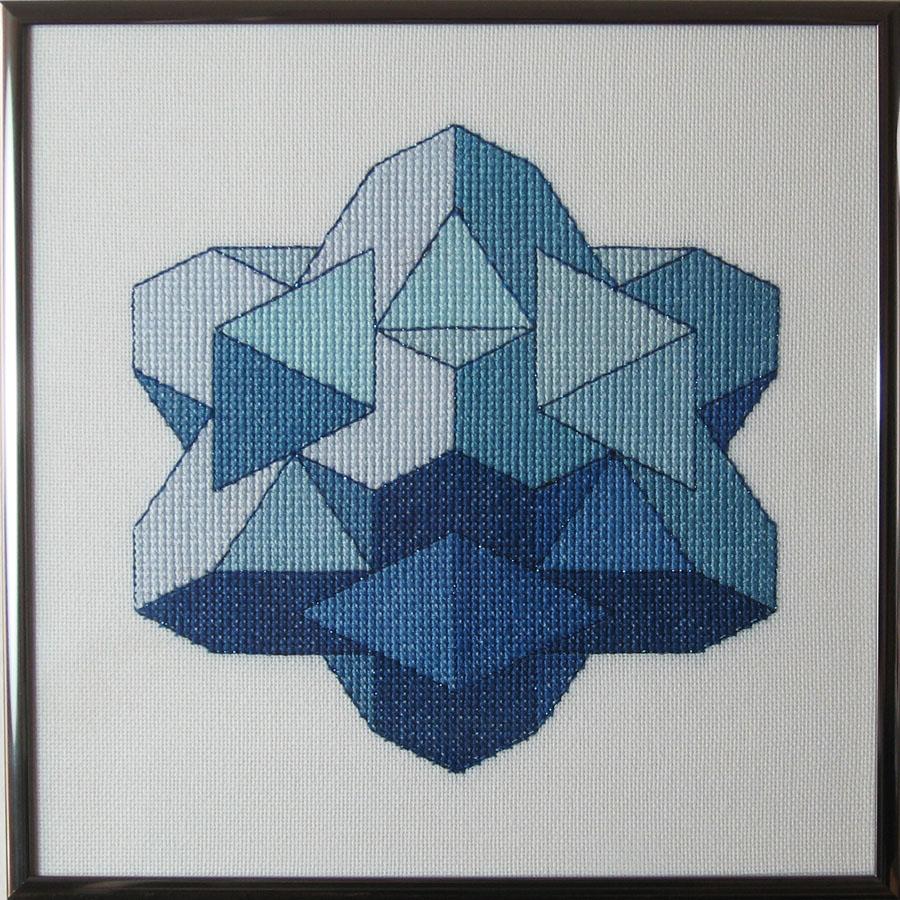 32B Borduurpatroon Kruissteken Embroidery pattern Cross-stitches Cube F