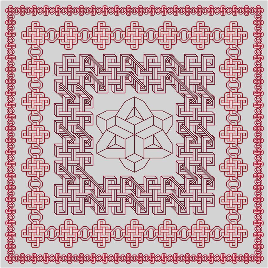 42A Borduurpatroon Kruissteken Embroidery pattern Cross-stitches Schakelkleed